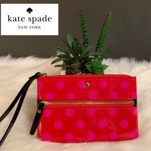 ♠️Kate Spade Red/Pink Polka Dot Wristlet